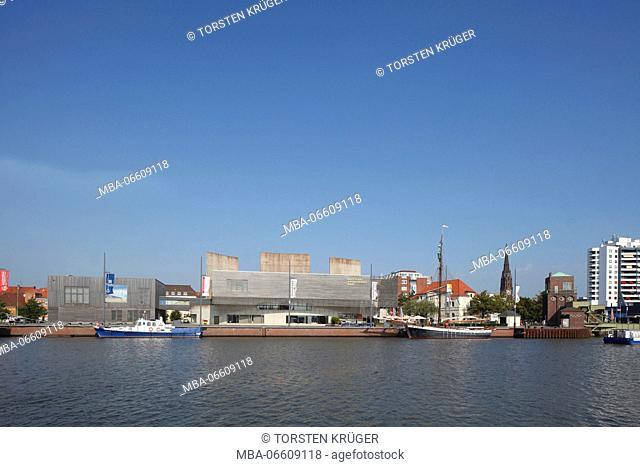 German Emigration Center / Deutsches Auswandererhaus, Neuer Hafen, yacht harbour, Bremerhaven, Bremen, Germany