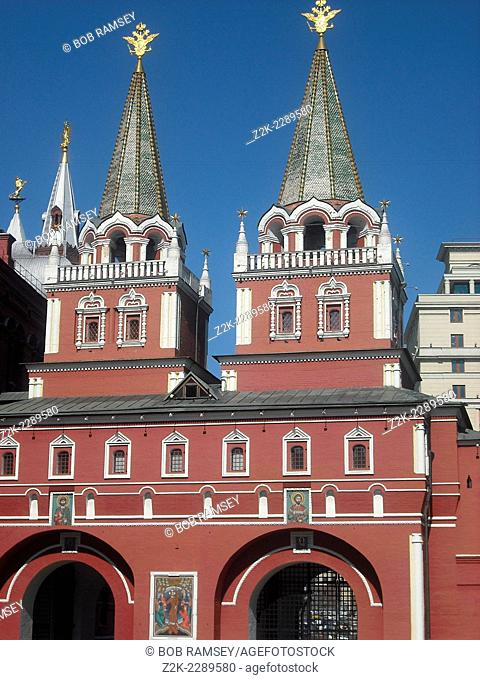 Voskresensky gates, Red Square, Moscow, Russia