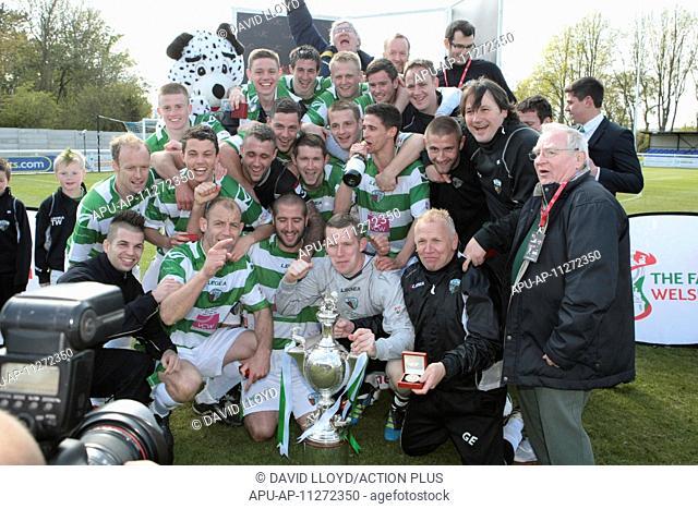 2012 Welsh Football Cup Final Druids v New Saints May 5th. 05.05.2012, Bangor, Wales. Cefn Druids FC v The New Saints FC
