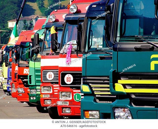 Trucker & Country Festival Interlaken. Canton of bern. Switzerland