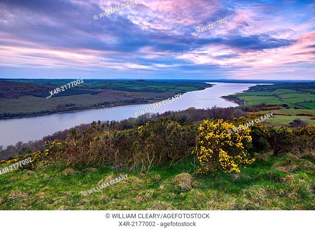 Lough Derravaragh viewed from the summit of Knockeyon, County Westmeath, Ireland