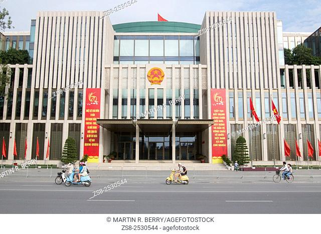 New National Assembly Building in Hanoi opposite the Mausoleum, opened in 2014. Vietnam