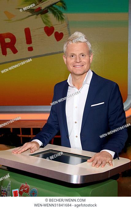 "Guido Cantz presents his new ARD-TV-Show """"Flieg mit mir"""" at Studio Hamburg Featuring: Guido Cantz Where: Hamburg, Germany When: 27 Jun 2017 Credit:..."