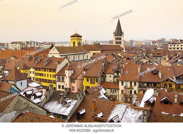 General view. Annecy, France, Haute-Savoie, Rhone-Alpes, Europe