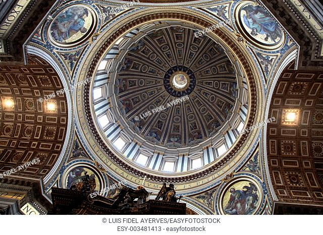 Ceiling of St. Peter's Basilica. Vatican City