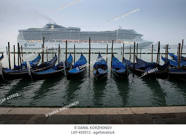 Cruise ship sailing past San Marco, Venice, Italy