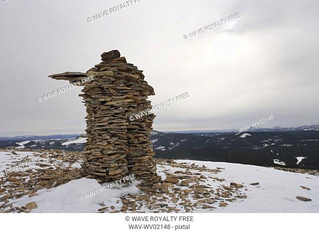 View of rock formation on top of Mount Hog's Back, Quebec