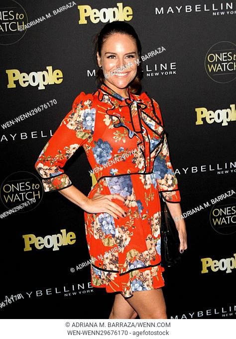 People's One's To Watch Event Celebrating Hollywood's Rising & Brightest Starts held at E.P. & L.P. in Los Angeles Featuring: Yara Martinez Where: Los Angeles