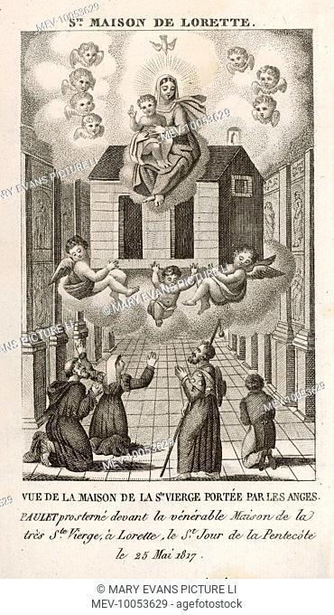 The house of Mary, mother of Jesus, is miraculously transported from Nazareth, first to Tersate, then to Loreto in Italy, where it remains to this day