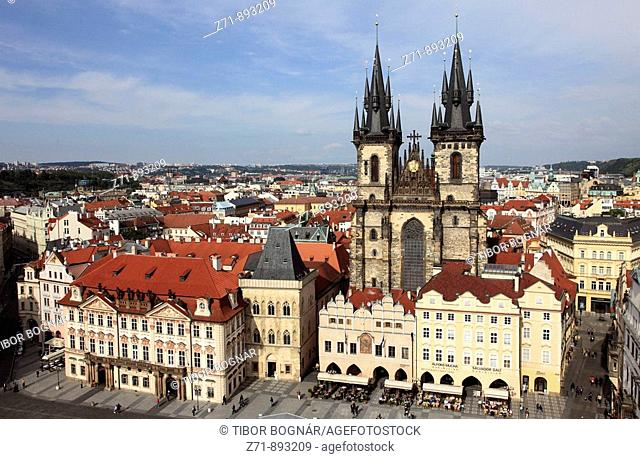 Czech Republic, Prague, Old Town Square, Tyn Church