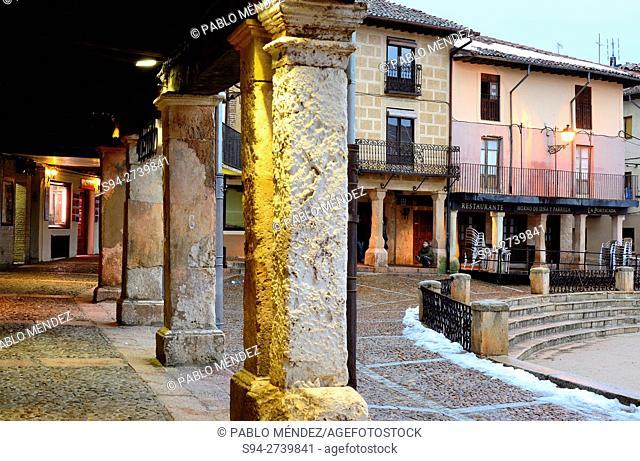 Town Hall arcaded square of Riaza, Segovia, Spain