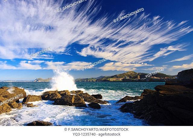 Coastal landscape, Castro Urdiales, Cantabria, Northern Spain
