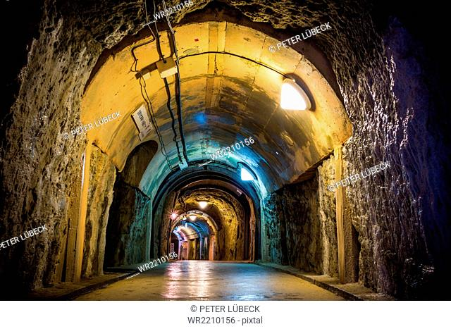 Former Japanese Navy Underground Headquarters military tunnels from WWII, Okinawa Prefecture, Japan
