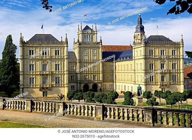 Ehrenburg Palace (Schloss Ehrenburg), Coburg, Upper Franconia, Franconia, Bavaria, Germany, Europe