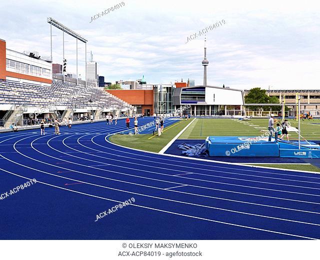 Varsity Stadium running track University of Toronto , Ontario, Canada