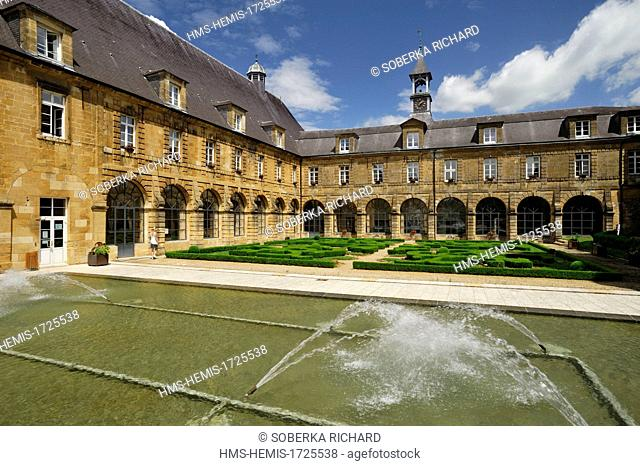 France, Ardennes, Mouzon, ancient abbey, indoor gardens
