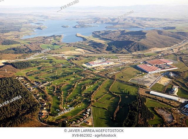 Larrabea golf club. Ulibarri-Ganboa reservoir, Legutiano, Alava, Basque Country, Spain