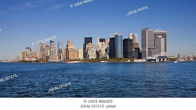 Manhattan skyline, New York City, New York, United States