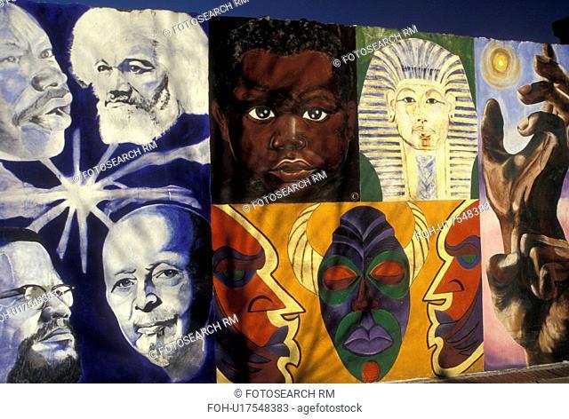 wall mural, African-American, Atlanta, GA, Georgia, Wall of Respect mural in Atlanta