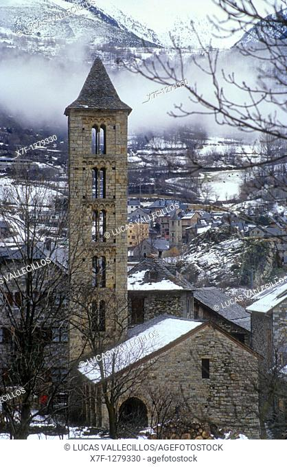 Santa Eulàlia Church  Romanesque church Erill la Vall  Boí valley Lleida province  Catalonia  Spain