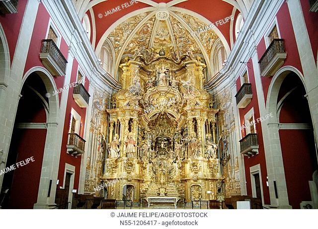 Baroque altarpiece XVIIIth Cent. in the Santuari del Miracle XVIth Cent., Solsonés, Lleida