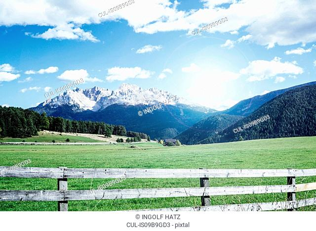 Scenic view of snow capped mountains, Nova Ponente, Trentino-Alto Adige, Italy, Europe