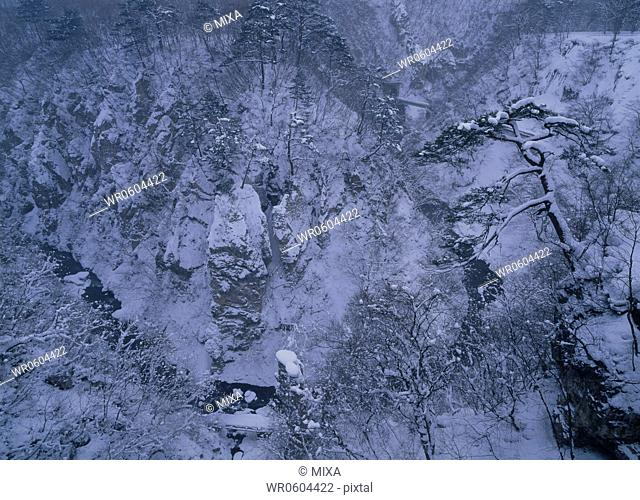 Snowscape of Naruko Valley, Osaki, Miyagi, Japan