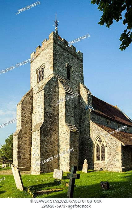St Peter's church in Firle village, East Sussex, England. South Downs National Park