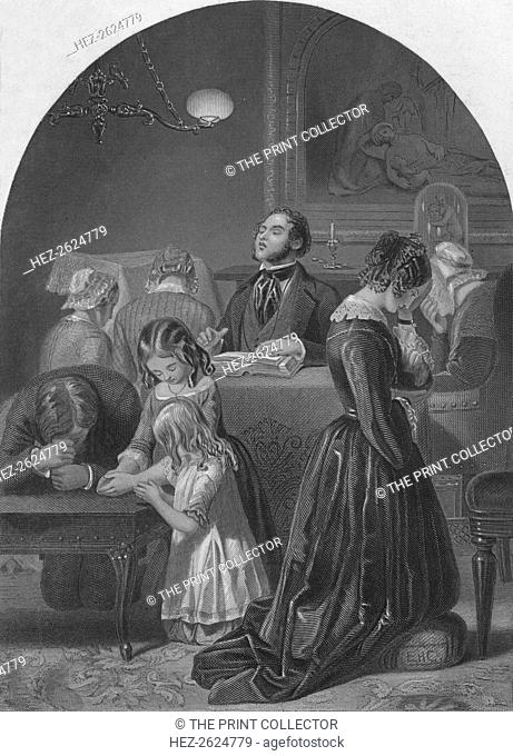 'Family Worship', c1870. Artist: Edward Henry Corbould