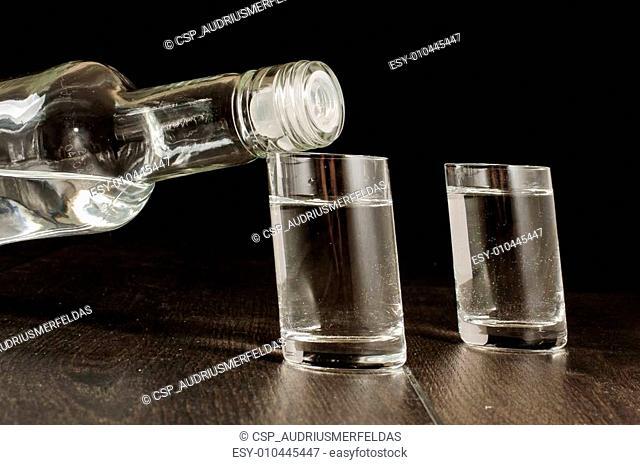 Original crooked design vodka shots