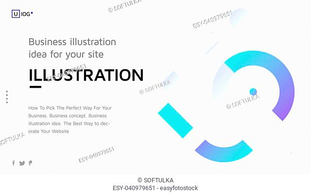 Vector illustration concept with universal abstract shapes, text for website design and development, app, responsive, programming, seo, maintenance, banner