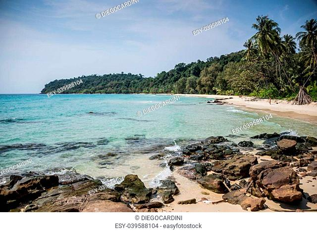 Unsopilted Tropical Crystal Beach at Koh Kood island, South East Asia. Thailand
