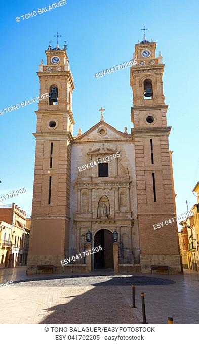 Sant Antoni church in Canals of Valencia at Spain