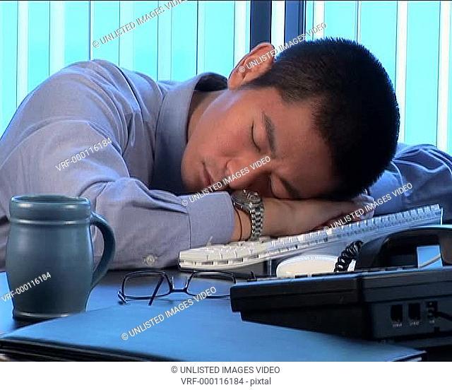 Tired executive