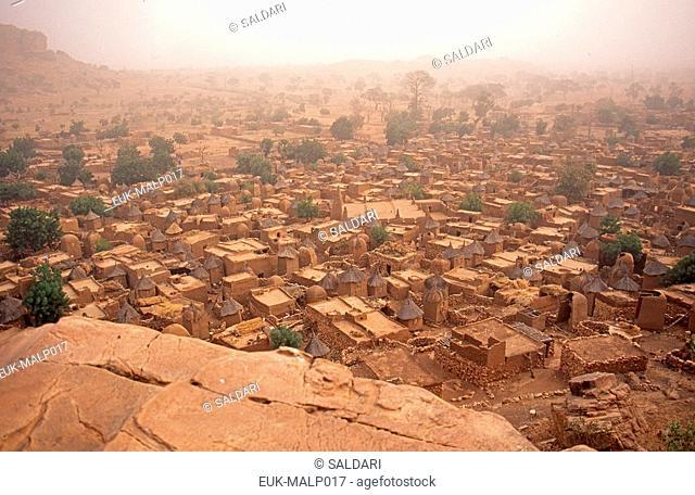 Dogon village on the Bandiagara escarpment,Mali
