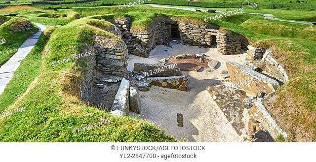The neolithic ( circa 2,500 to circa 2,000 BC) settlement of Skara Brae the best preserved groups of prehistoric houses in Western Europe