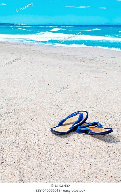 wicker flip flop by the foreshore