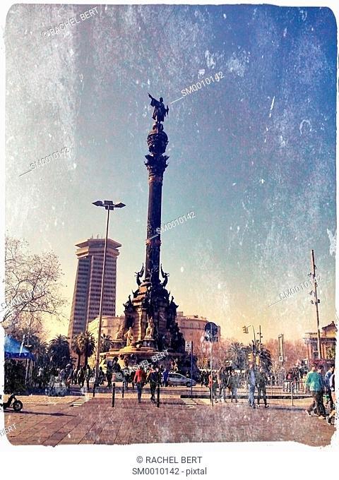 Columbus statue, Port of Barcelona, ??Catalonia
