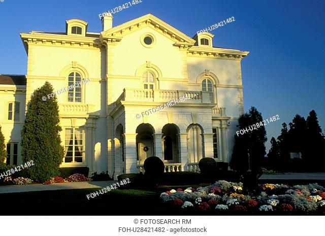 Beechwood Mansion, Newport, Rhode Island, RI, The Astor's Beechwood mansion in Newport in the autumn