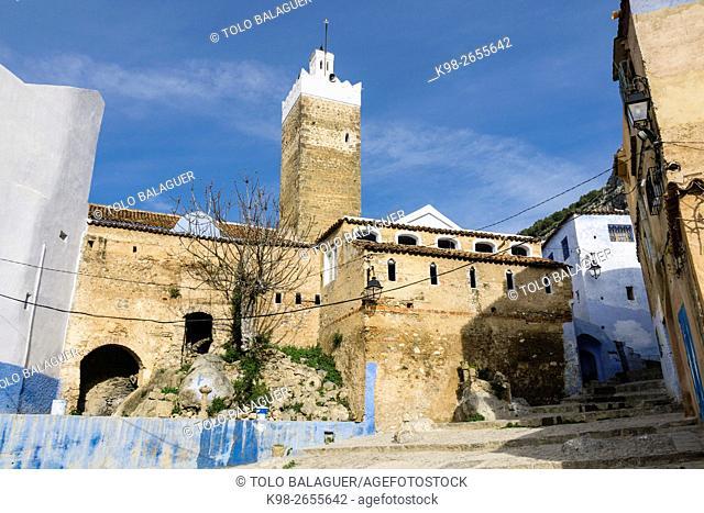 gran mezquita, construida en el Siglo XV, por Moulay Alí Ben Rachid, Chefchauen, -Chauen-, Morocco, North Africa