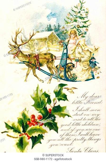 Letter from Santa: My Dear Little Friend, Nostalgia Cards