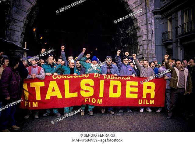 italsider metalworker demonstration, 70's