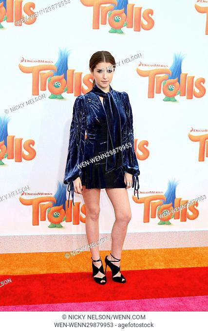 Trolls Los Angeles Premiere held at the Regency Village Theatre Featuring: Anna Kendrick Where: Westwood, California, United States When: 24 Oct 2016 Credit:...