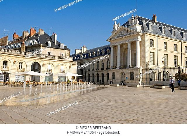 France, Cote d'Or, Dijon, Place de la Liberation Liberation Square and the Palais des Ducs