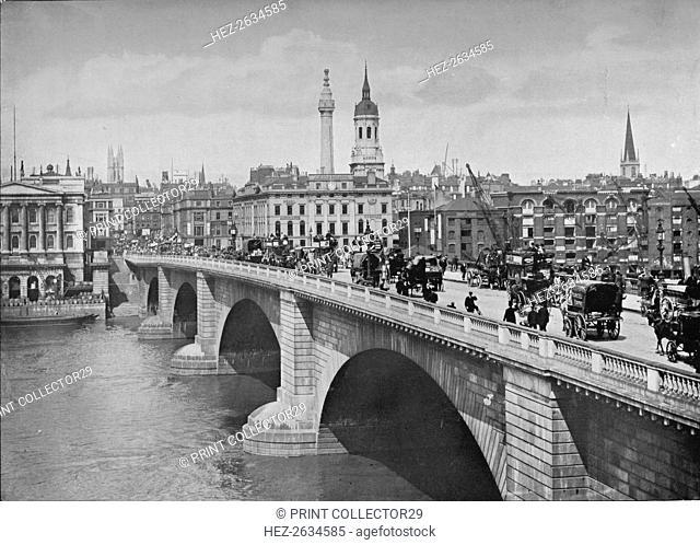 London Bridge, City of London, 1911. Artist: Pictorial Agency