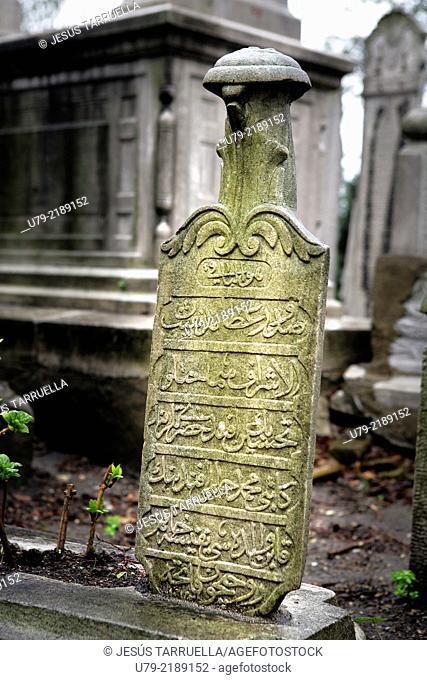 Lápida musulmana. Estambul. Turquía. Europa. Asia