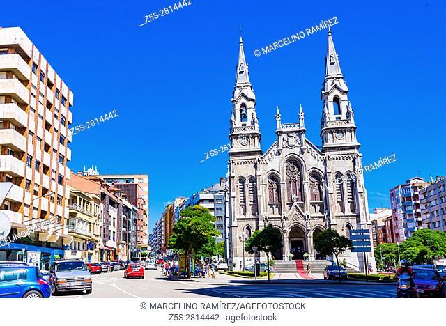 St. Thomas of Canterbury Church. Avilés, Principality of Asturias, Spain, Europe