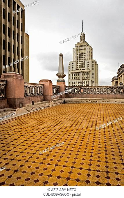 View of Altino Arantes building from Martinelli building roof terrace, Sao Paulo, Brazil