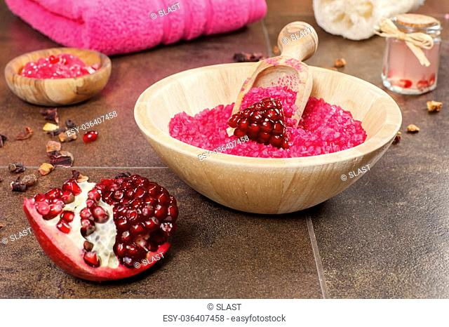 Organic fruit skincare ingredients, healthy cosmetics concept. Spa theme