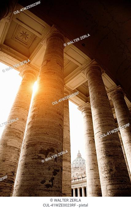 Low angle view of Roman columns